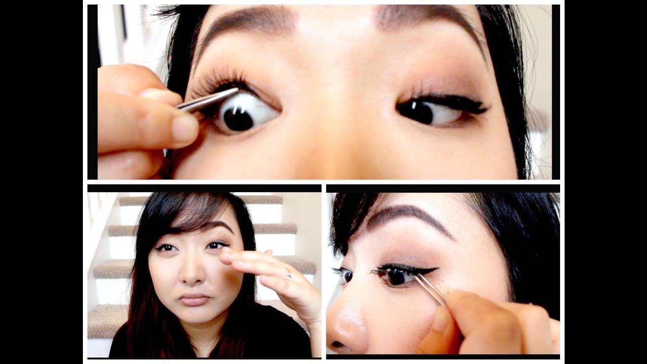 Applying False Eyelashes Under Lash Does It Work For Monolids