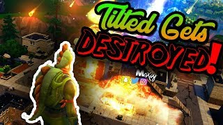 FORTNITE BATTLE ROYALE * NEW MAP UPDATE * TILTED GETS DESTROYED !!