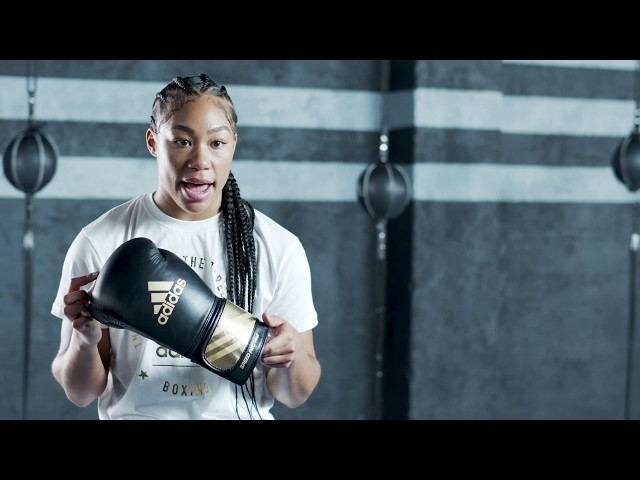 BOXING - Alycia Baumgardner talks about the adi Speed 350 - adidas pro line
