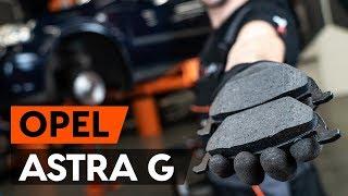 aizmugurē un priekšā Bremžu Kluči uzstādīšana OPEL ASTRA G Hatchback (F48_, F08_): bezmaksas video