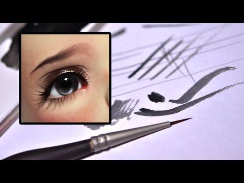 how to put eyelashes on bjd