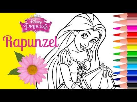 COLORING RAPUNZEL DISNEY PRINCESS Coloring pages Coloring book How to Color Princess