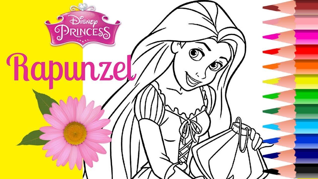 COLORING RAPUNZEL DISNEY PRINCESS Coloring Pages Book How To Color Princess