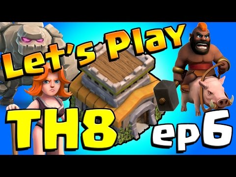 Clash of Clans: Let's Play TH8! ep6 - Walls & Barracks GALORE!