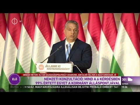 Orbán Viktor lezárja a Nemzeti Konzultációt - 2017.06.28.