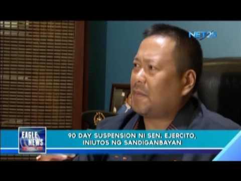 Sandiganbayan suspends Senator JV Ejercito for 90 days
