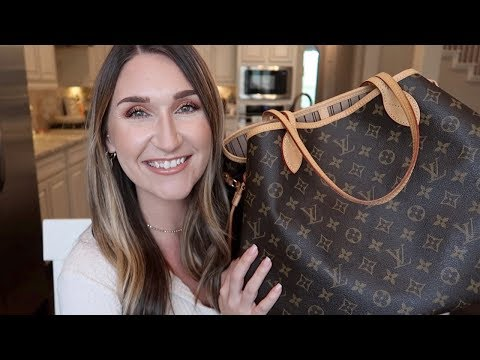 WHAT'S IN MY BAG?! LOUIS VUITTON NEVERFULL GM    EVERYDAY HANDBAG ESSENTIALS + MOM EDITION!