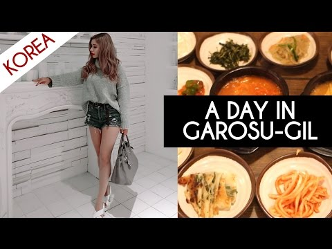 A DAY IN SINSA GAROSU-GIL | KOREA VLOG