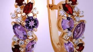 видео Купить золотые серьги с бриллиантами