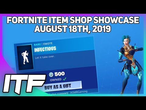 Fortnite Item Shop *NEW* INFECTIOUS EMOTE! [August 18, 2019] (Fortnite Battle Royale)