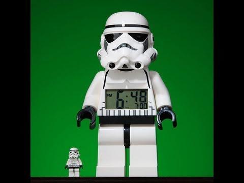 Star Wars Lego Stormtrooper Alarm Clock HD Review   www.flyguy.net ...