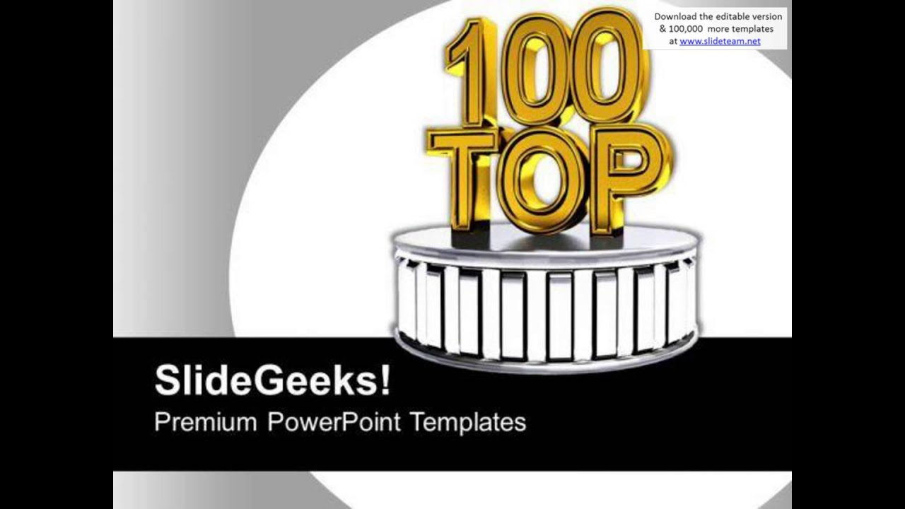 top 100 best award winning podium powerpoint templates ppt