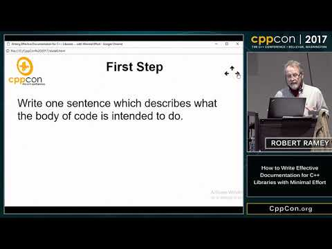 "CppCon 2017: Robert Ramey ""How to Write Effective Documentation for C++ Libraries..."""