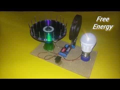 Free Energy light blub device with magnet 100% self running Dc motor at home - New idea