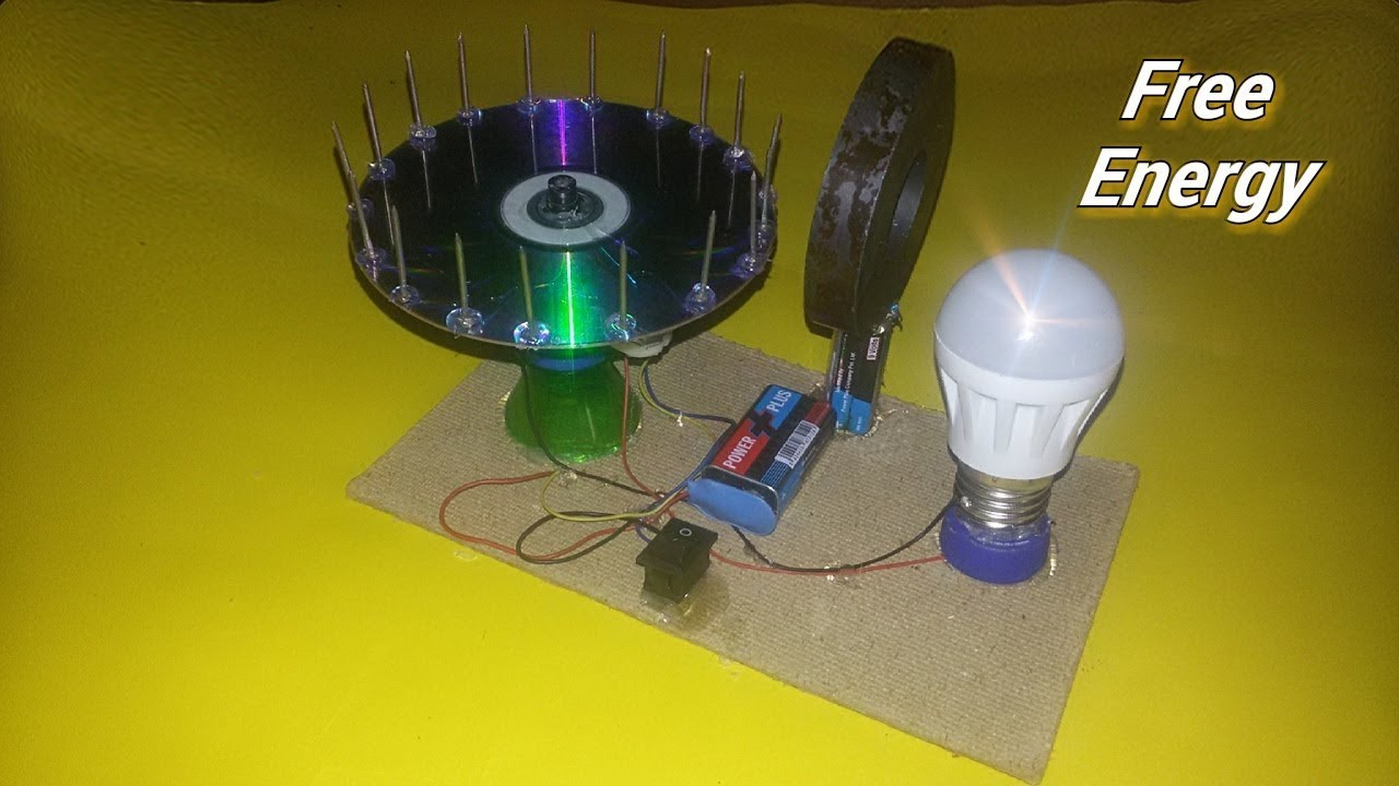 9aa0ad72e1d Free Energy light blub device with magnet 100% self running Dc motor at  home - New idea