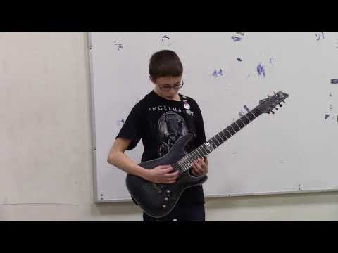7th Grade Guitarist plays metal at his school talent show