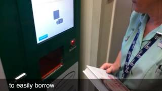 Library Book Vending Machine at George Eliot Hospital