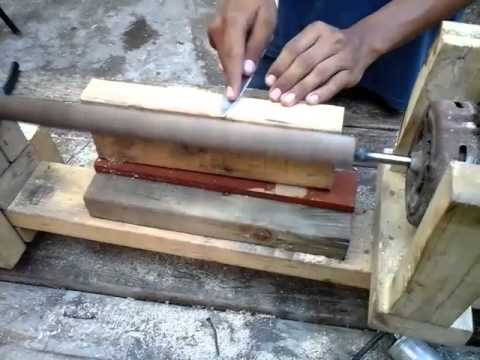 Como hacer un torno de madera casero youtube for Como construir estanques para peces