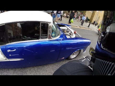Chevrolet Bel Air cruising the streets of London