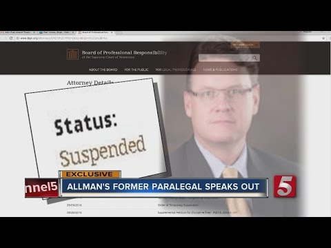 Former Paralegal For Andy Allman Speaks Out After His Arrest, TBI Investigation