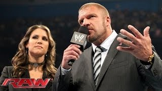 WWE COO Triple H responds to being knocked out by Big Show: Raw, Oct. 14, 2013
