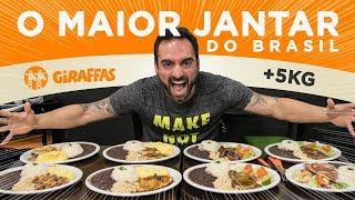 O maior jantar do Brasil!!! Chocando o Giraffas! (5kg, 8000kcals)