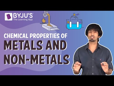 Metals and Non-metals 03 - Chemical Properties