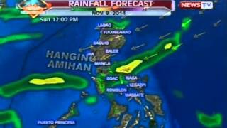 BT: Weather update as of 12:19 p.m. (November 9, 2014)