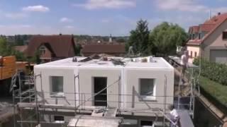 Как в Германии двухэтажный дом строят за один день(Проблема быстровозводимых домов во всем мире была бы решена с помощью таких технологий И нашей стране не..., 2016-09-27T10:16:55.000Z)