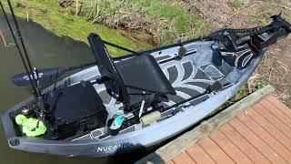 NuCanoe F10 fishing kayak - Setup with bow mount trolling motor