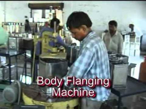 Square Tin Making Process Of Ashok Machine Tools Youtube