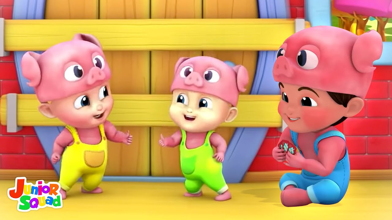 Three Little Pigs and The Big Bad Wolf | Story for Kids | Nursery Rhymes | Pretend & Play | Kids Tv