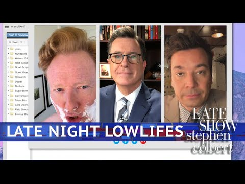 'Lowlife' Colbert Video Chats With 'Lost Soul' Fallon & Conan O'Brien