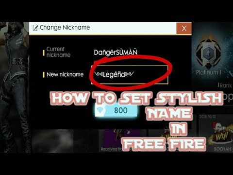 How To Set Stylish Name In Free Firebakchodi