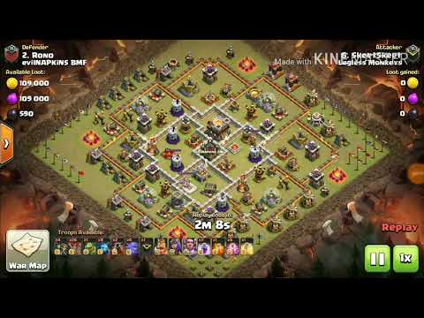 TH11 bowitch 3star attack strategy and lavaloon strategies for th11| Clasher Omega