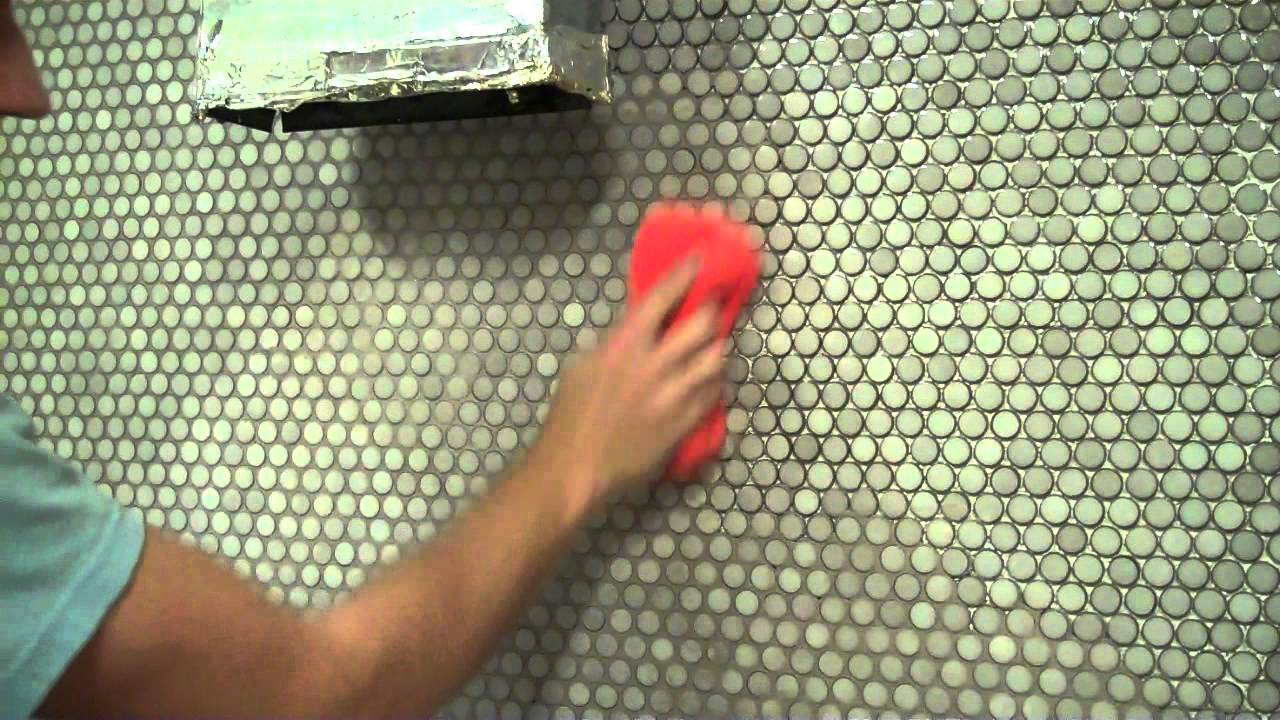 Grouting Our Penny Tile  YouTube