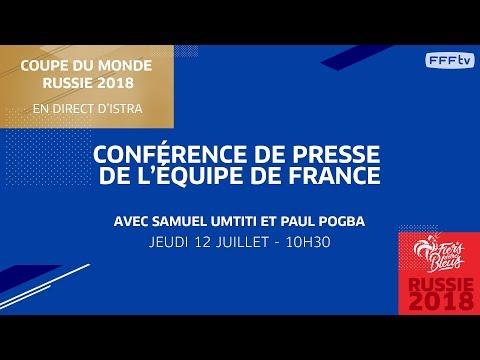 Équipe de France : le replay du point presse d'Umtiti et Pogba I FFF 2018
