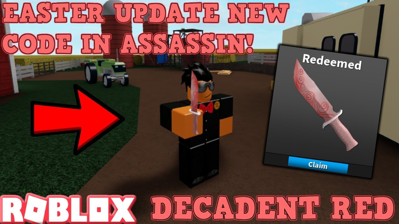Roblox Assasin Tofuu Code Brand New Easter 2019 Code For Roblox Assassin Decadent Red Knife Code Gameplay Youtube
