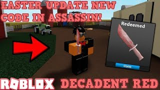 *BRAND NEW* EASTER 2019 CODE FOR ROBLOX ASSASSIN! (DECADENT RED KNIFE CODE) *GAMEPLAY*