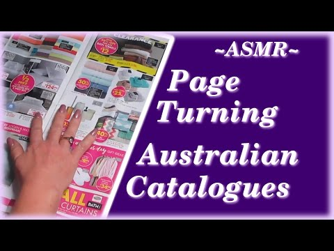 ASMR Page Turning With Australian Catalogues ~ Soft Spoken & Whispered ~ Hand Movements