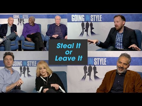 The 'Going in Style' Cast Plays 'Steal It or Leave It'