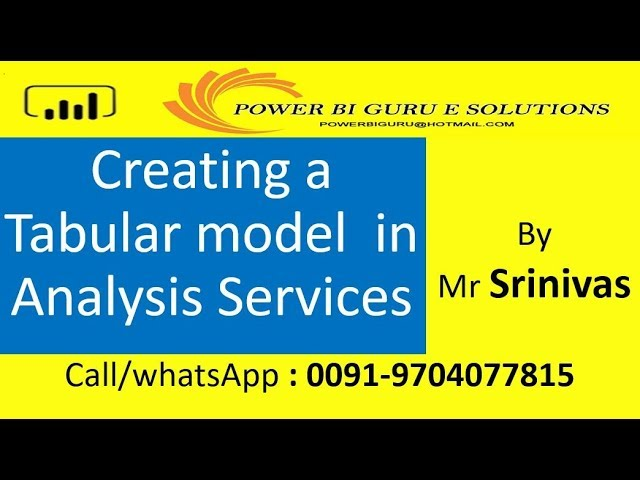 Tabular Model creation in Analysis Servies |Tabular SSAS |Azure Analysis Services | Power BI Guru