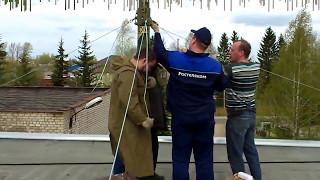 видео Мачта для антенн   12 метров алюминиевая составная