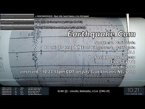 Earthquake Cam - Ridgecrest, California M7.1 . 7.6.2019 ( 地震ウェブカメラ )