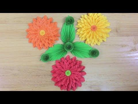 How to fold Chrysanthemum paper flowers | Origami flower tutorial | VUNU ART (Ep.28)