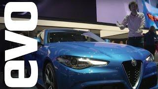 """""""فيديو"""" شاهد ألفا روميو جوليا 2017 تتألق في معرض باريس معرض سيارات باريس 2016 Alfa Romeo Giulia"""