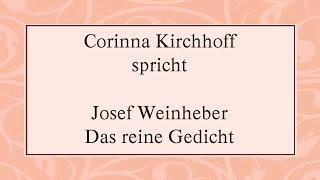 """Josef Weinheber """"Das reine Gedicht"""""""