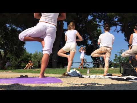 Yoga Day 2015 - BreatheAsOne in Nice, France - 21 Jun 2015