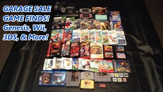 GARAGE SALE GAME FINDS! Genesis, Wii, 3DS, & More!