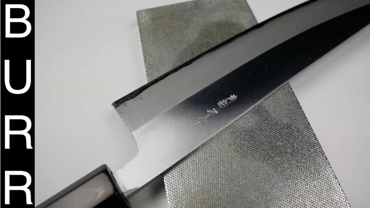 how to sharpen japanese chef knife on atoma 140 diamond stone
